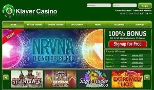klaver casino homepage