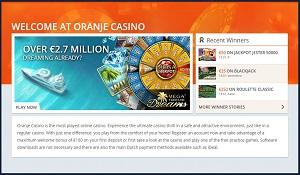homepage oranje casino
