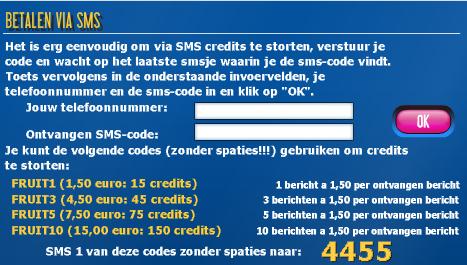 Gokken met sms