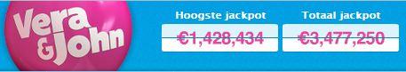Jackpots bij VeraJohn