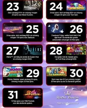 royal panda bonus kalender