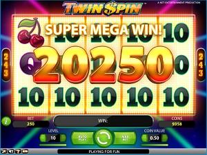 winnen met de Twin Spin gokkast