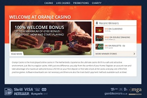 oranje casino website